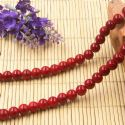 Beads, Glass, Burgandy , Round shape, Diameter 8mm, 10 Beads, [BHB0157]